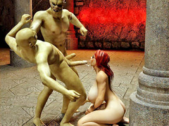 picture #2 ::: Two kinky monsters humiliating and fucking a hottie