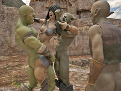 picture #4 ::: 3d gangbang sex with young elves and monsters
