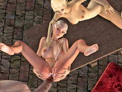 picture #5 ::: Elven cuties have to please their giant master