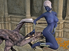 picture #2 ::: Horny dragon enjoys a delicious elven pussy