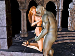 picture #2 ::: Captured blonde forced into sex with goblins