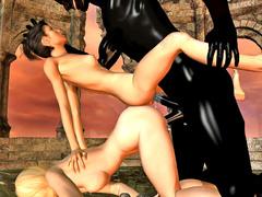 picture #2 ::: Dark demon possesses and fucks two hotties