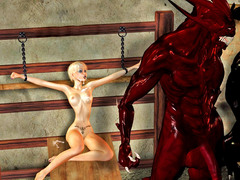 picture #6 ::: Raven haired babe enjoys fucking a monster