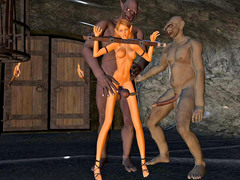 picture #4 ::: Alien babes were fucked by huge buffalo and monsters' tentacles