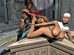 picture #5 ::: Two gorgeous girls fucked by a horny demon