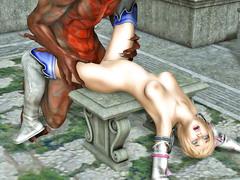 picture #9 ::: Demon ass drills a helpless petite girl