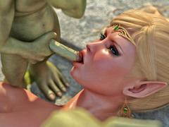 picture #4 ::: Elven princess gets gangbanged by five goblins