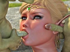 picture #7 ::: Elven princess gets gangbanged by five goblins