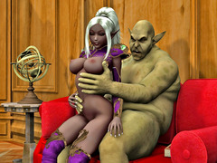 picture #1 ::: Slutty elven girls fucking horny monsters