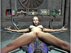 picture #4 ::: Kinky aliens hook up hotties to fucking machines