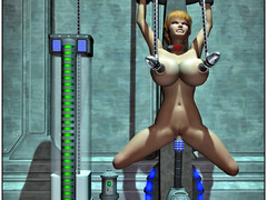 picture #5 ::: Kinky aliens hook up hotties to fucking machines