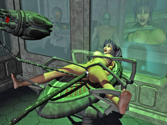 picture #6 ::: Kinky aliens hook up hotties to fucking machines