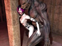 picture #1 ::: Slutty dark elf hottie loves werewolf cocks the most