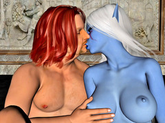picture #1 ::: 3d vixens kissed and fucked by fantasy thugs