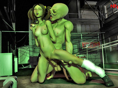picture #1 ::: Alien hentai and monster fuck for pretty ladies