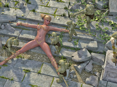 picture #1 ::: Sexy babe raped and jizzed on by a troll