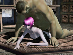 picture #2 ::: Sexy babe raped and jizzed on by a troll