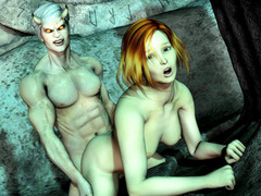 picture #2 ::: Animated babes were full of monsters' sperm and satisfied