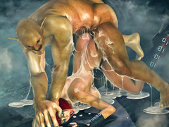 picture #3 ::: Animated babes were full of monsters' sperm and satisfied