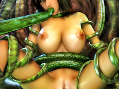 picture #1 ::: Slutty babes fucked hard by tentacle monsters