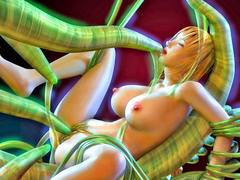 picture #4 ::: Slutty babes fucked hard by tentacle monsters
