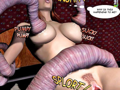 picture #6 ::: Slutty babes fucked hard by tentacle monsters
