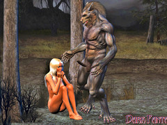 picture #3 ::: Busty blonde gets drilled with a werewolf's cock