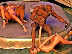 picture #1 ::: Hot animated babes were in wild sex orgy with mistress
