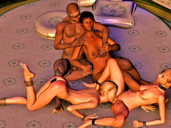 picture #3 ::: Hot animated babes were in wild sex orgy with mistress