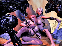 picture #1 ::: Kinky monsters use human girls for breeding