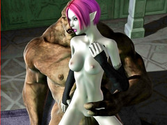 picture #4 ::: Horny monster gets seduced by a horny dark elf