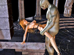 picture #3 ::: Brave girl finally surrenders to the horny demon