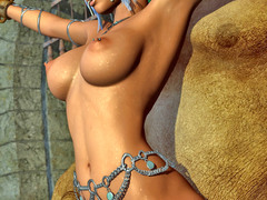 picture #2 ::: Hot elven babe has to suffer brutal fucking
