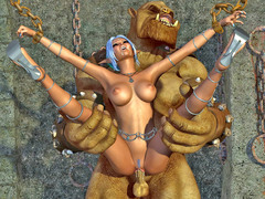 picture #3 ::: Hot elven babe has to suffer brutal fucking