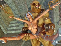 picture #4 ::: Hot elven babe has to suffer brutal fucking