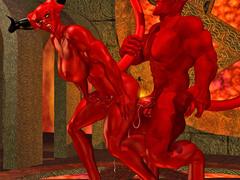 picture #1 ::: Hellish monsters enjoying kinky sex