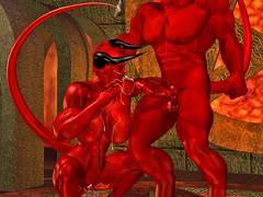 picture #3 ::: Hellish monsters enjoying kinky sex