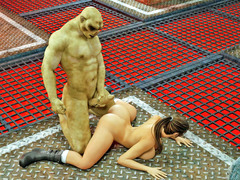 picture #4 ::: Green monsters find a victim for a threesome