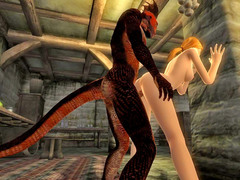 picture #1 ::: Lizardman fucking a horny girl from behind
