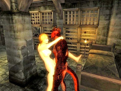 picture #3 ::: Lizardman fucking a horny girl from behind