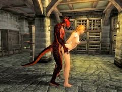 picture #4 ::: Lizardman fucking a horny girl from behind