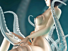 picture #2 ::: Kinky 3d tentacle porn with cute Asian girl