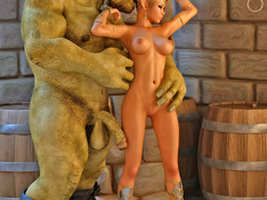 picture #1 ::: Tiny goblins with huge cocks gangbanging a hottie