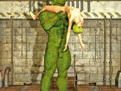 picture #1 ::: Hot 3d elf babe gets a pussy licking from a giant