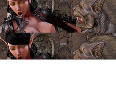 picture #2 ::: Hot 3d elf babe gets a pussy licking from a giant