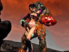 picture #4 ::: Elven slut takes on two massive cocks
