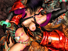 picture #5 ::: Elven slut takes on two massive cocks