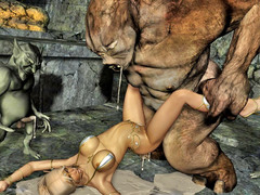 picture #11 ::: Hot blonde gets raped by a thug monster gang