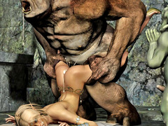 picture #6 ::: Hot blonde gets raped by a thug monster gang