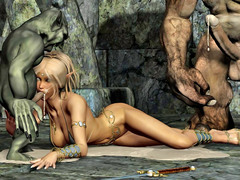 picture #9 ::: Hot blonde gets raped by a thug monster gang